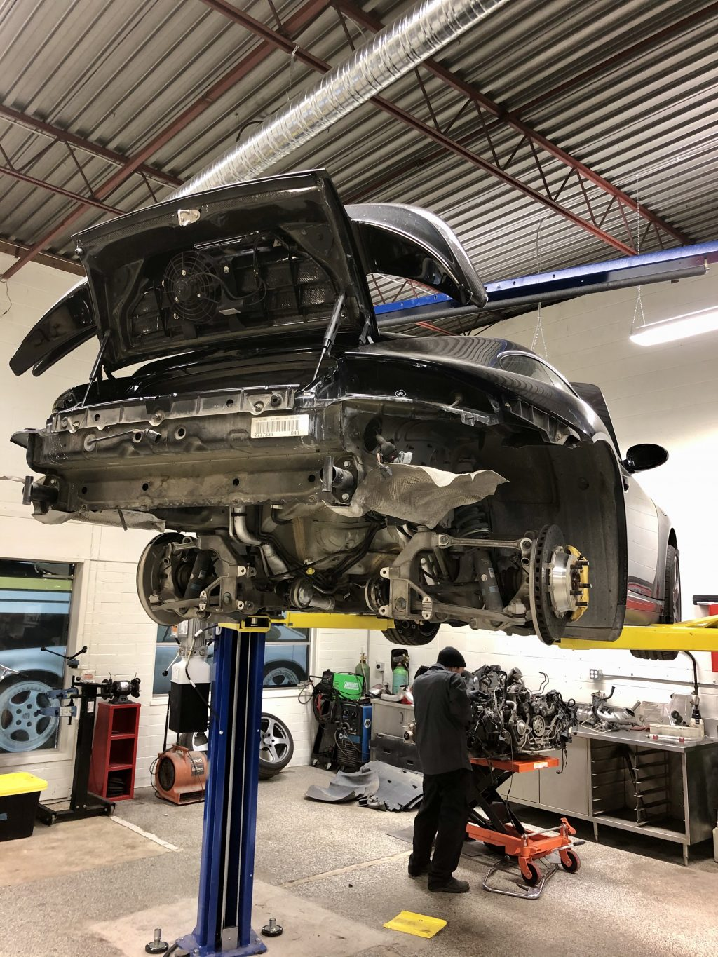 Porsche 997 Engine Out Service Repair Calgary Specialist